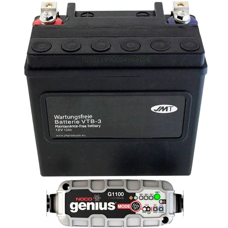 Bateria Harley BHD-3 65958-04A + Cargador NOCO G1100EU