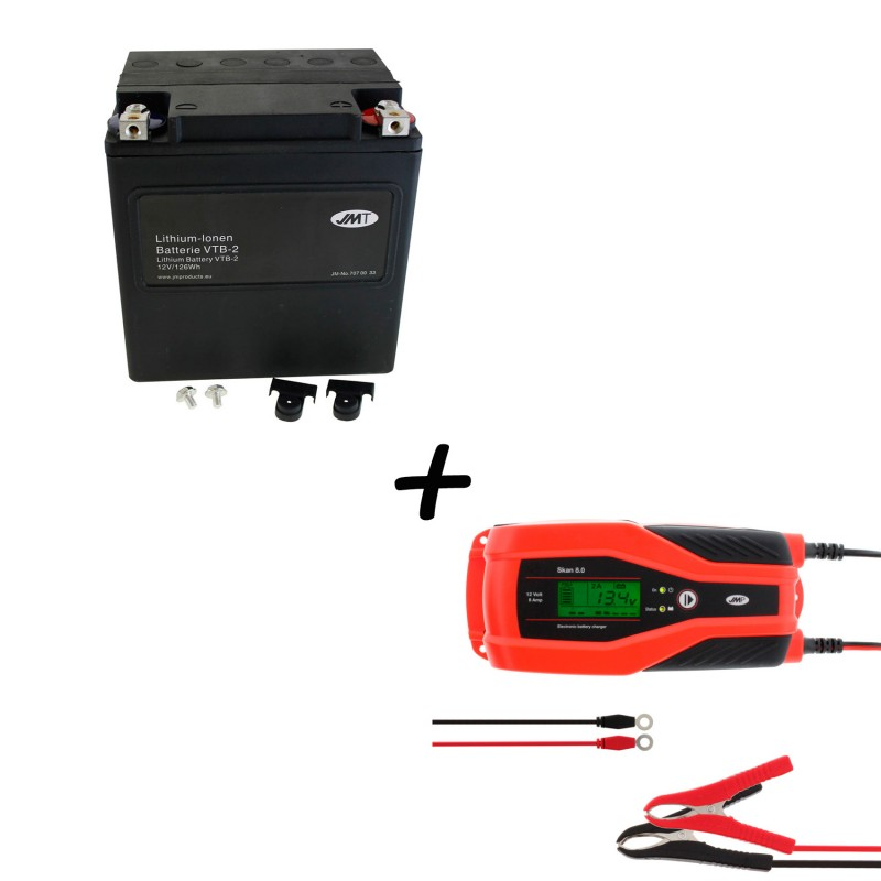 Bateria Harley BHD-2 66010-97C + Cargador JMP SKAN 8.0 Litio