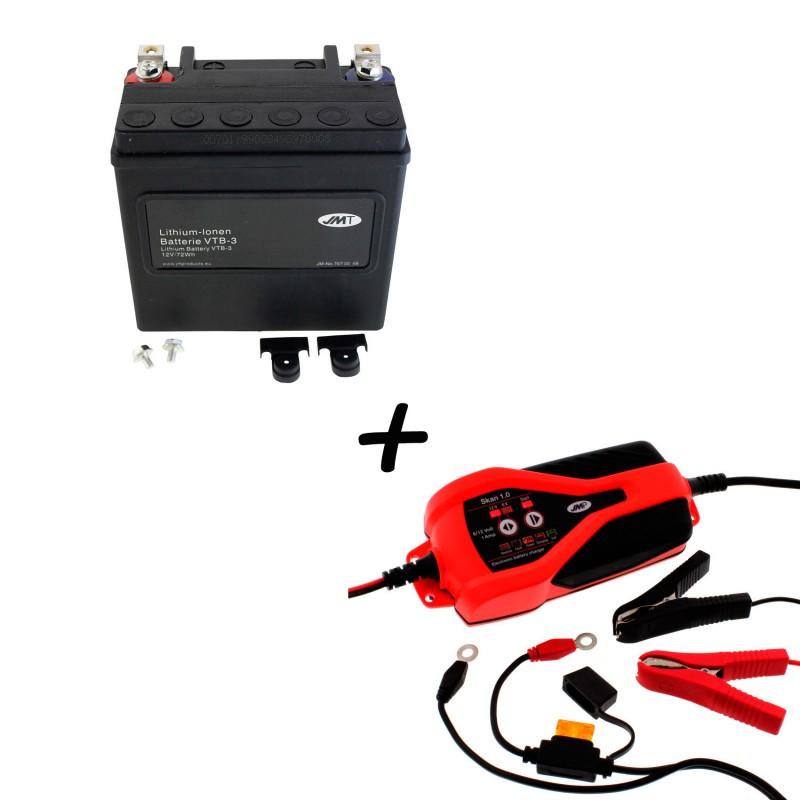 Bateria Harley BHD-3 65958-04A + Cargador JMP SKAN 1.0 Litio