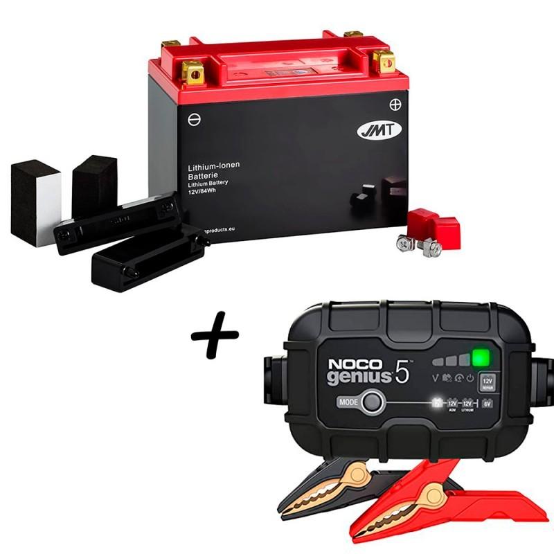 Bateria de litio YTX20H-BS + Cargador GENIUS5 Litio