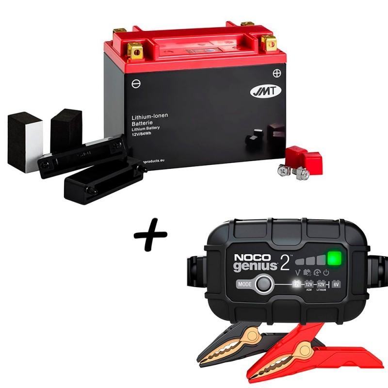 Bateria de Litio Harley Davidson compatible 66006-70 + Cargador GENIUS2 Litio