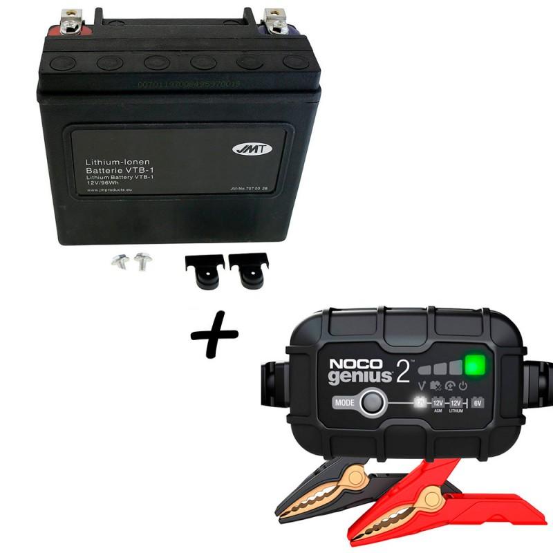 Bateria Harley BHD-1 Litio 65989-97C + Cargador NOCO Litio G3500EU