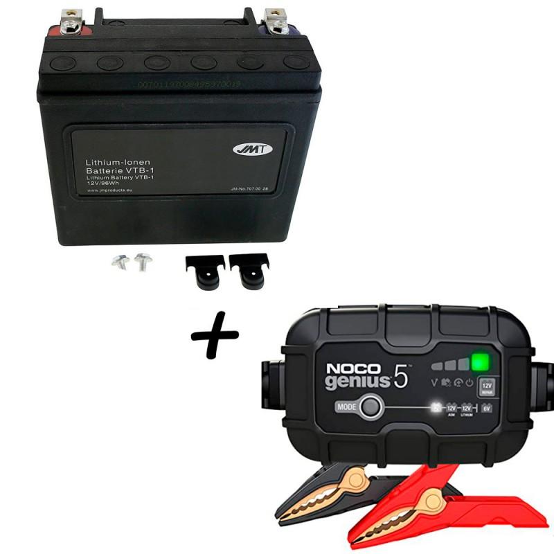Bateria Harley BHD-1 Litio 65989-97C + Cargador GENIUS5 Litio