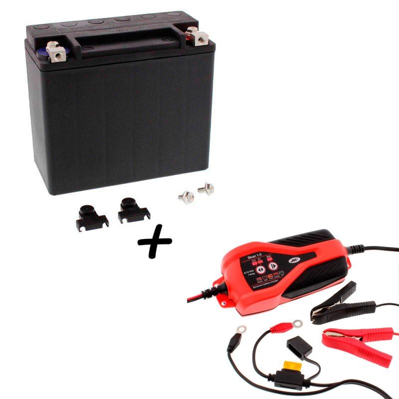 Bateria Harley BHD-1 65989-97C +  Cargador JMP SKAN 1.0 Litio
