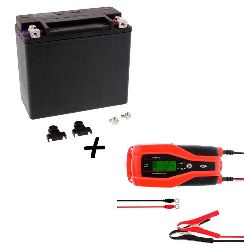 Bateria Harley BHD-1 65989-97C + Cargador JMP SKAN 8.0 Litio
