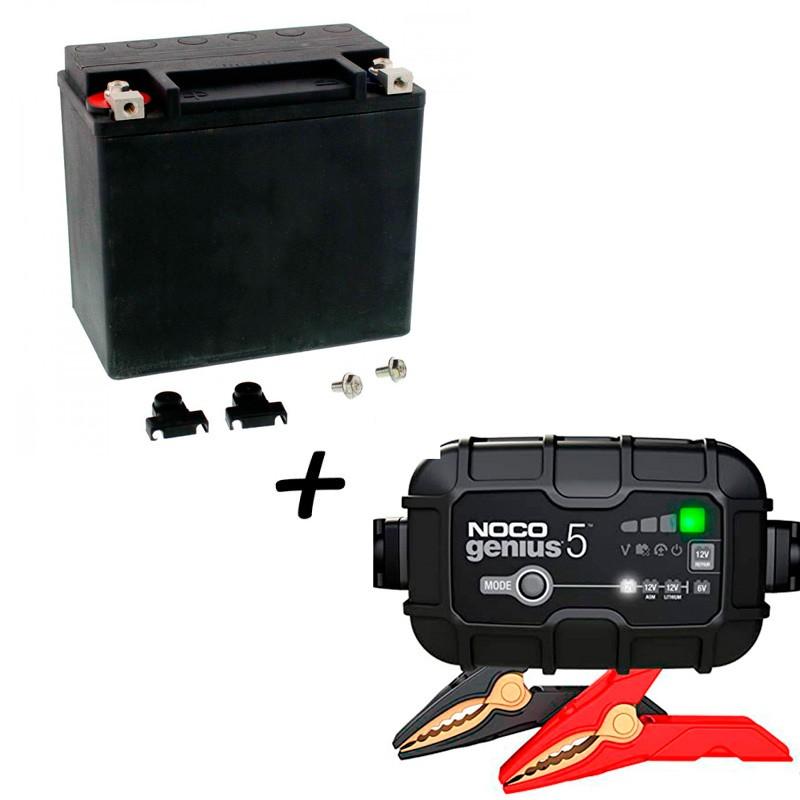 Bateria Harley Davidson BHD-5 65991-82B V-Twin AGM HD Series +  Cargador GENIUS5 Litio