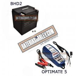 Bateria Harley BHD-2 66010-97C + Cargador OPTIMATE 5
