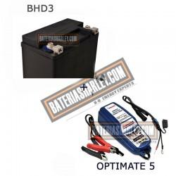 Bateria Harley BHD3 65958-04A + Cargador OPTIMATE 5