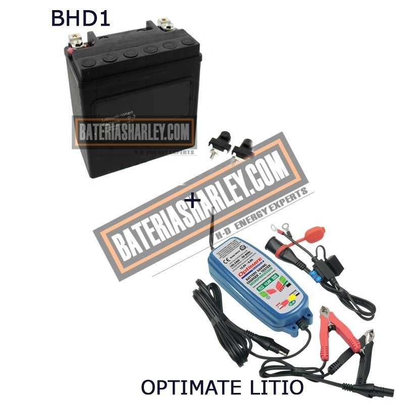 Bateria de litio Harley BHD-1 65989-97C + Cargador OPTIMATE LITIO