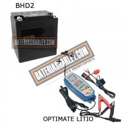 Bateria de litio Harley BHD-2 66010-97C + Cargador OPTIMATE LITIO